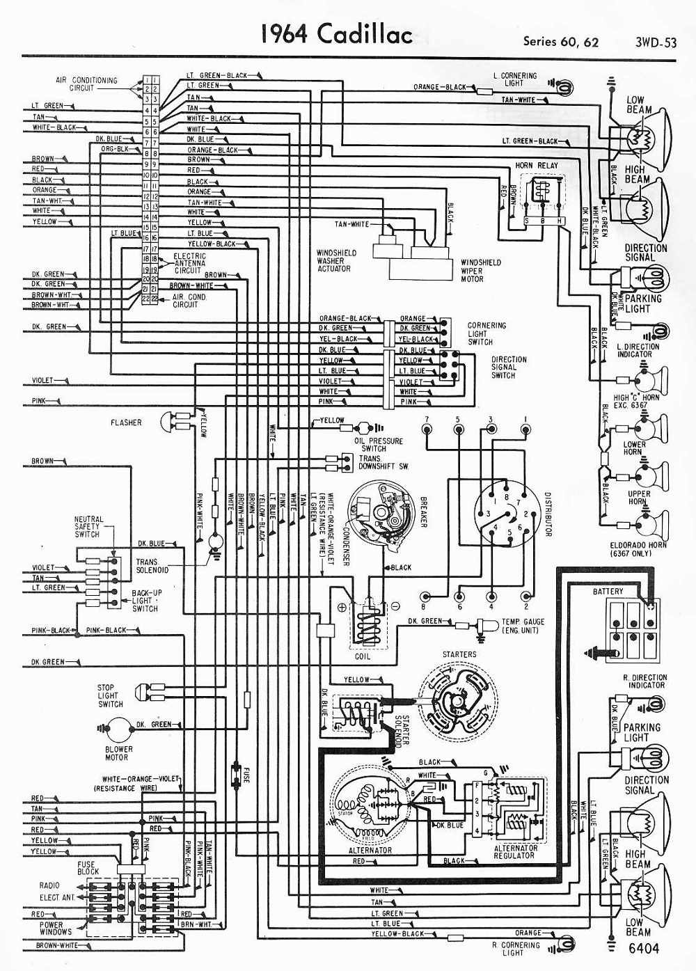 64 Cadillac Wiring Diagram Free Vehicle Diagrams 2003 Buick Harness Picture Schematic 1964 Series 60 Information And Photos Momentcar Rh Com 2002 Deville