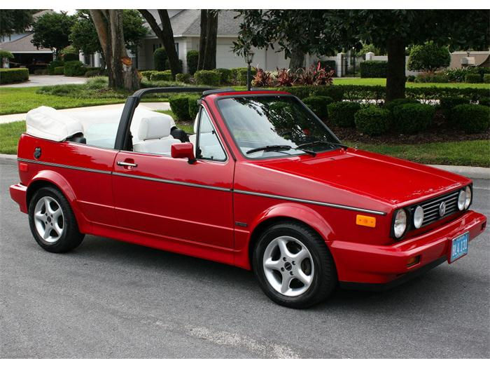 1988 Volkswagen Cabriolet - Information and photos - MOTcar