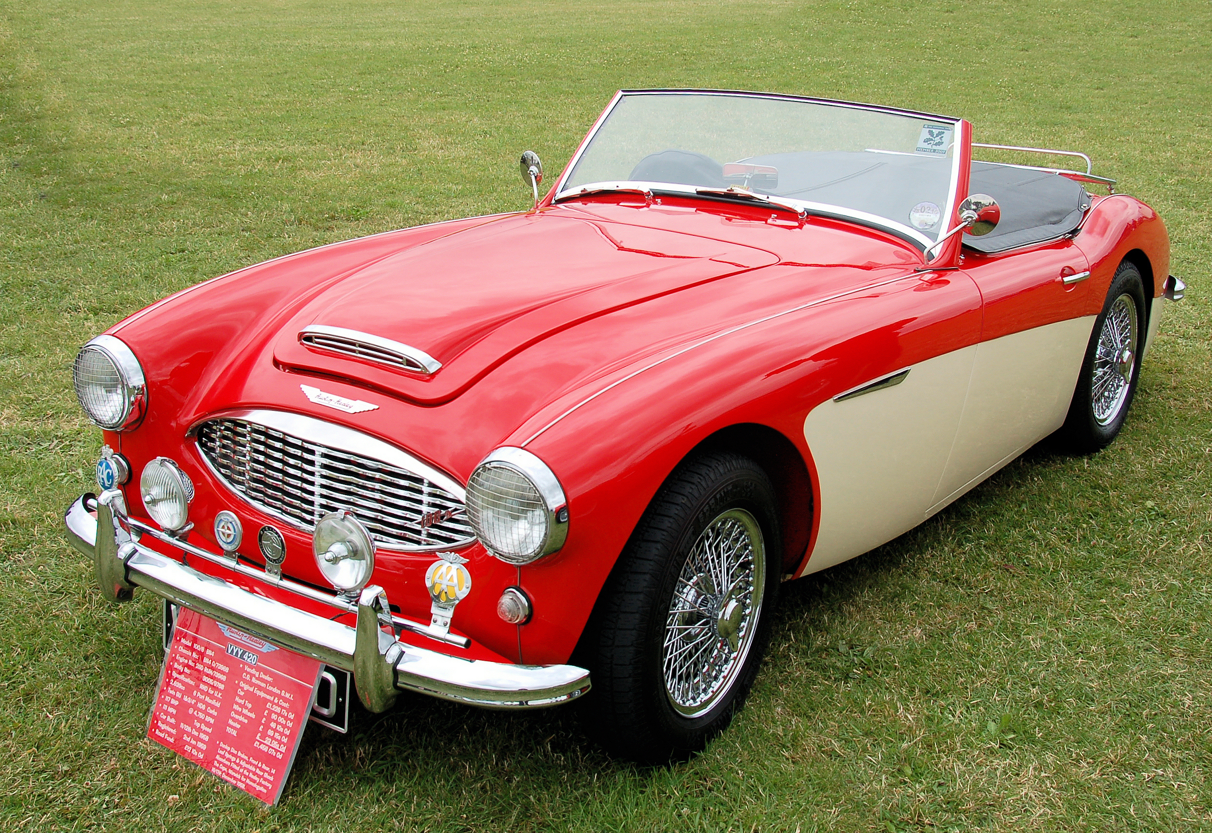 Austin Healey 100 Information and photos MOMENTcar