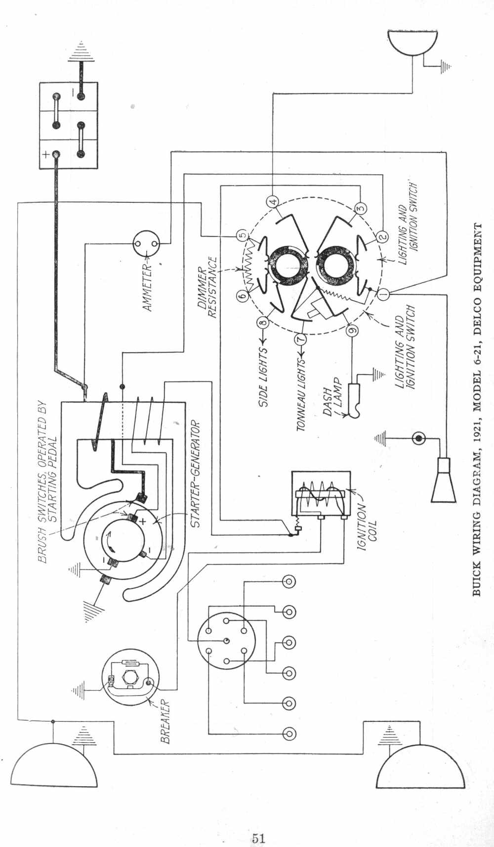 1921 Buick Model 21 Information And Photos Momentcar 21v 8n 3 Wire Alternator Diagram
