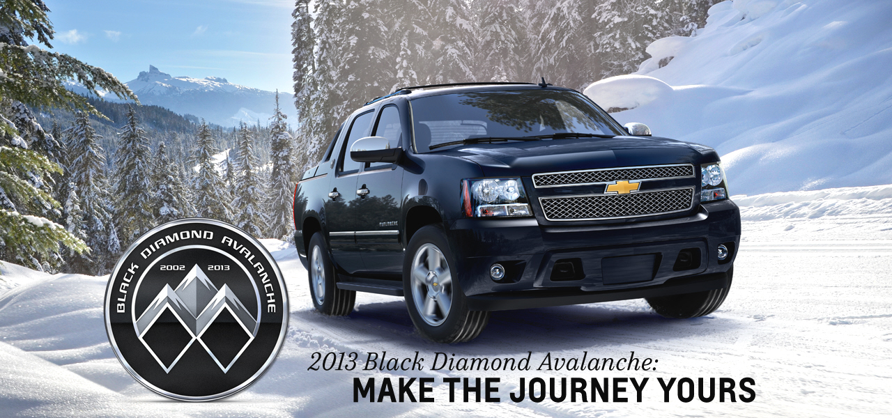 2013 chevrolet black diamond avalanche information and photos momentcar. Black Bedroom Furniture Sets. Home Design Ideas
