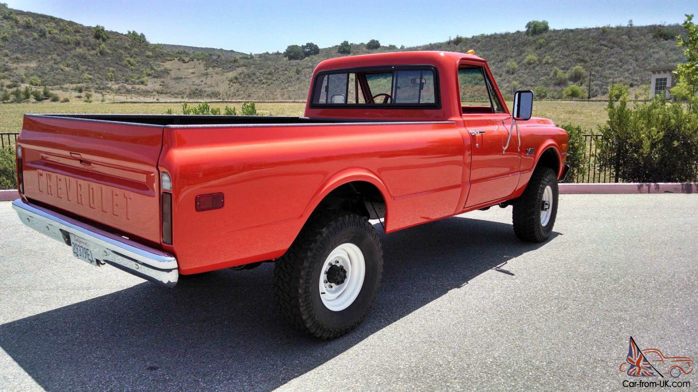 Showthread additionally Ron Braxlings Las Powered 72 Chevy Truck besides 1974 Chevy K5 Blazer together with Clean And Original 1970 Ford F100 likewise Weird Stuff Wednesday Tin Can C er Urban Camo C er One Part Tank One Part Rv. on 1972 chevrolet 4x4