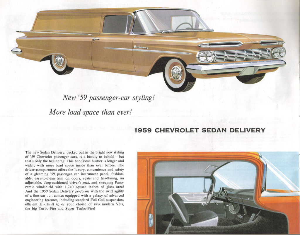 1959 Chevrolet Sedan Delivery Information And Photos