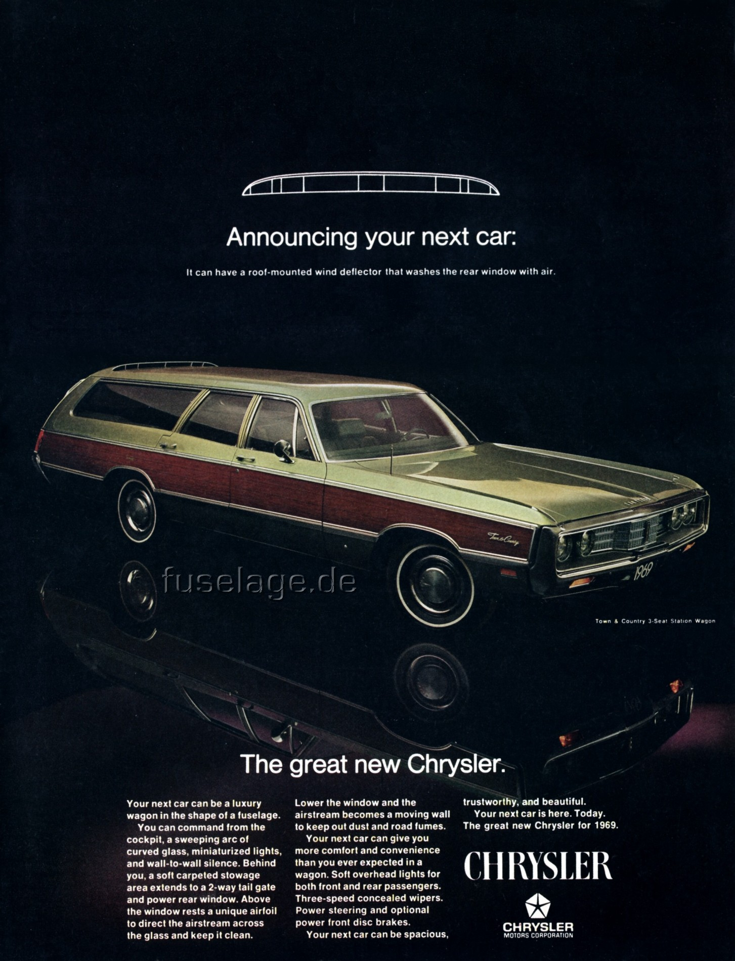 1969 Chrysler Town & Country Information and photos MOMENTcar