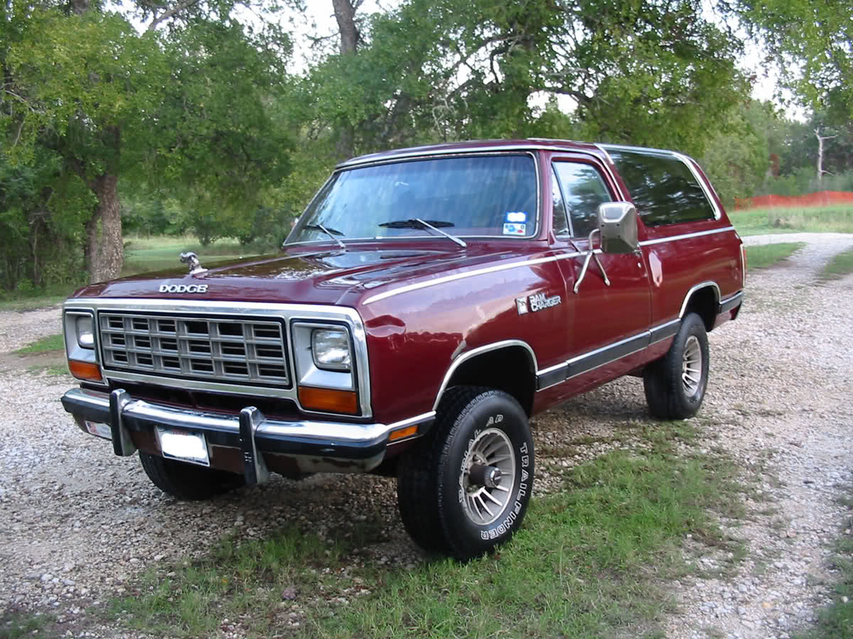 1982 dodge ramcharger information and photos momentcar. Black Bedroom Furniture Sets. Home Design Ideas