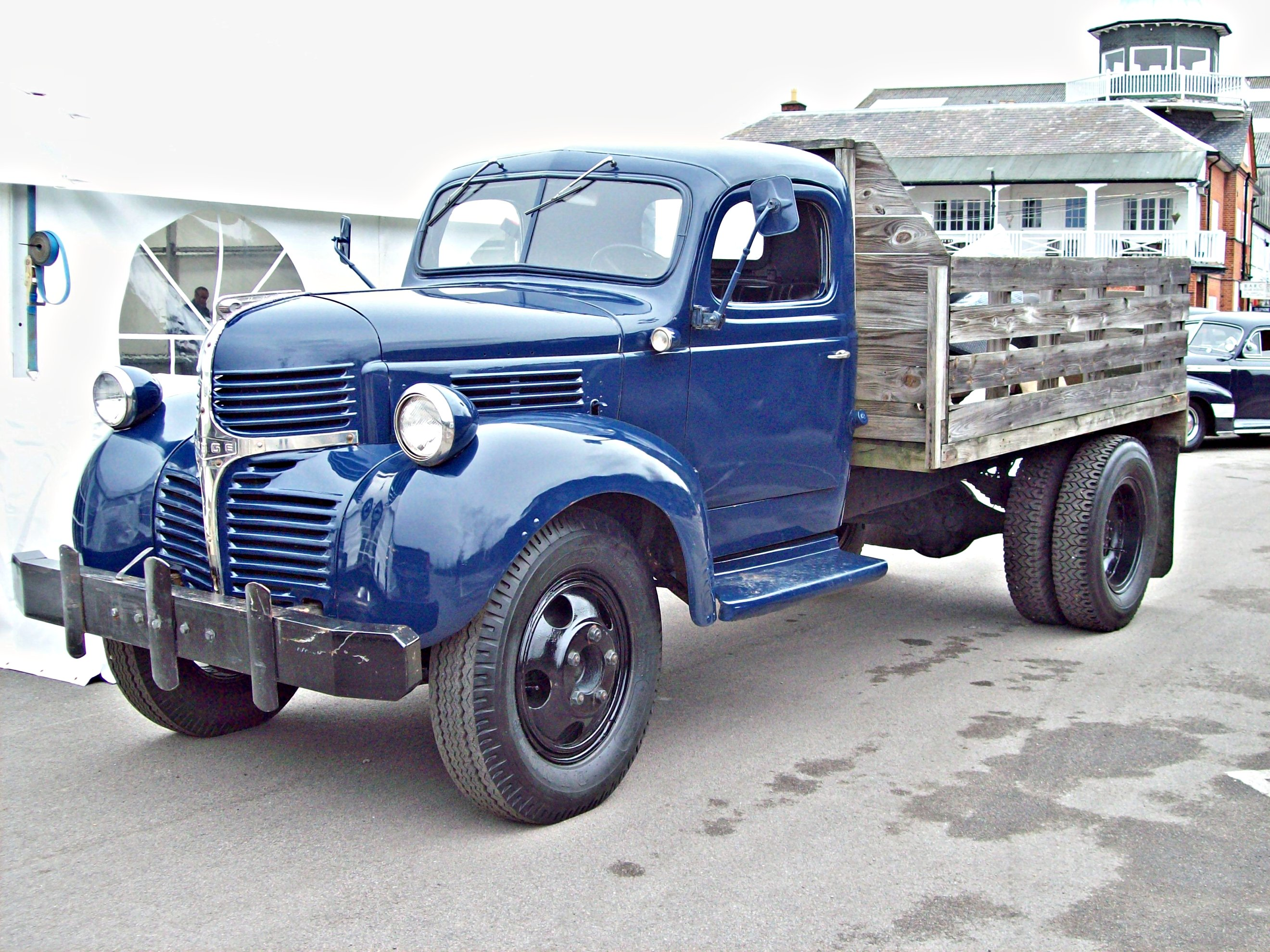 1955 Dodge Stake Information And Photos Momentcar 1949 1 Ton Bed Truck 3