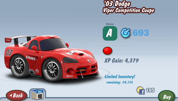 Dodge Viper ACR Competition #7