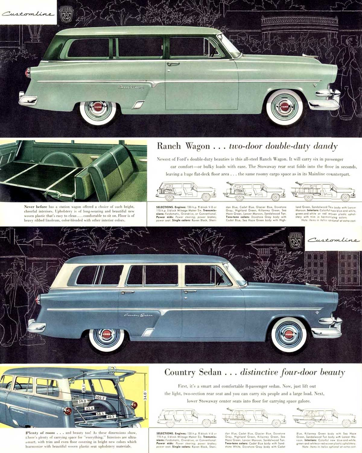 1954 Ford Country Information And Photos Momentcar Squire Station Wagon 13