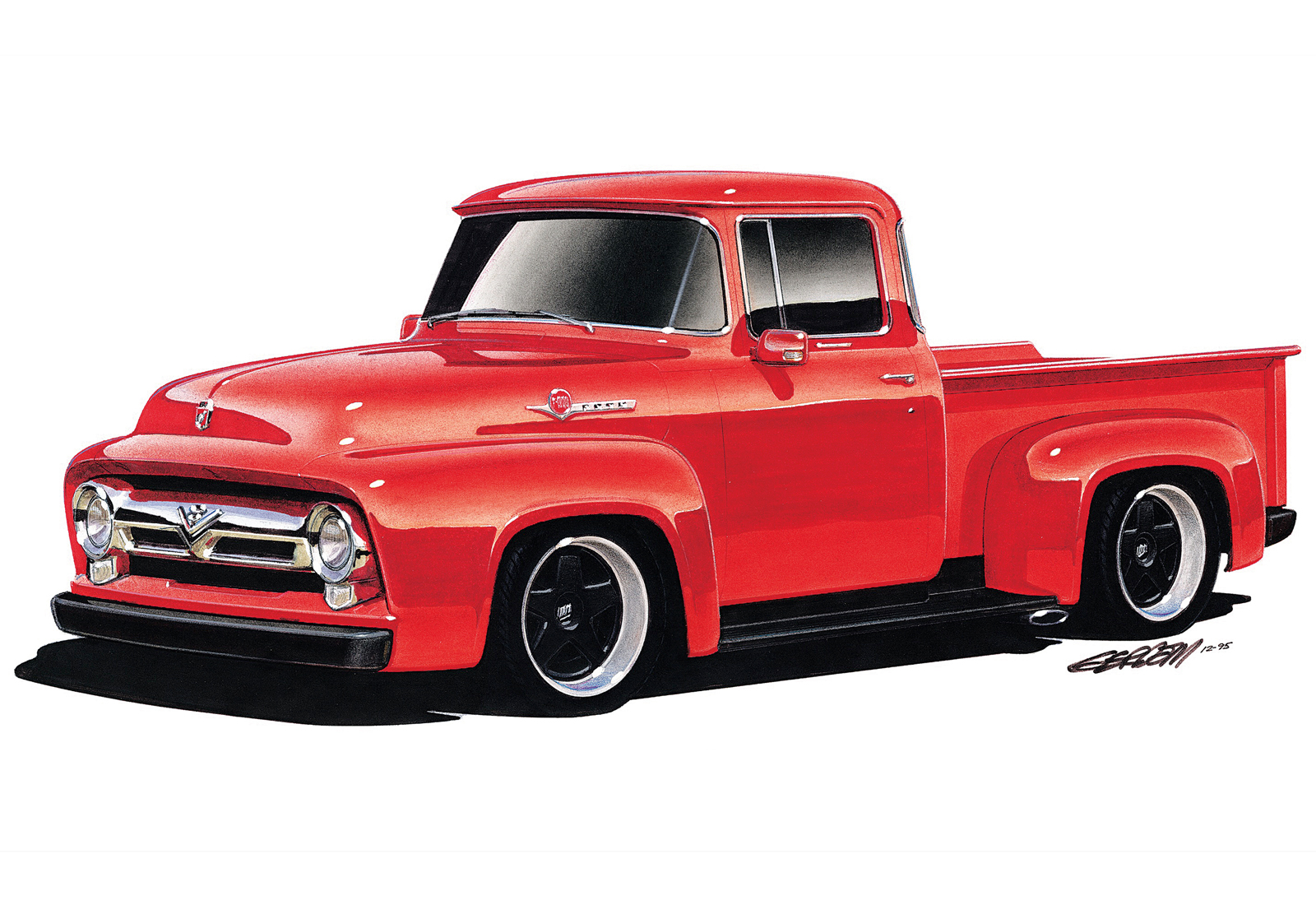 1956 Ford F100 Information And Photos Momentcar 56 Wiring 2