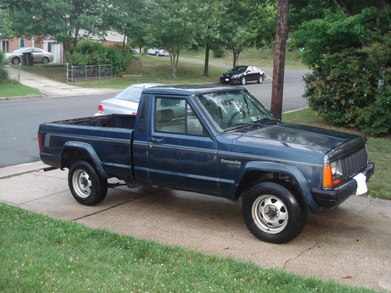 Jeep Comanche on 1989 Dodge Ram Blue