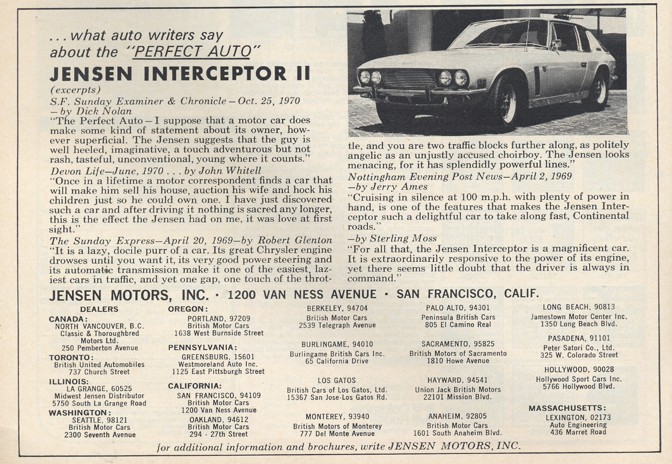 Jensen Interceptor II 1971 #7