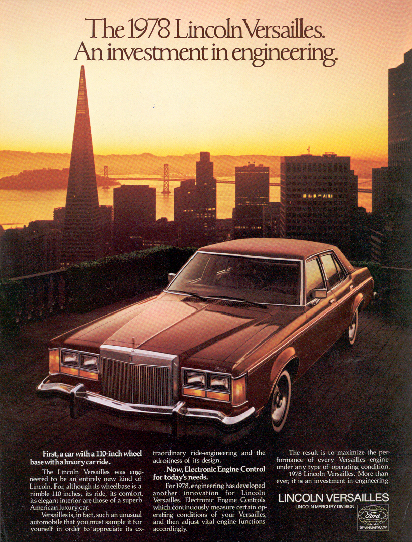 Lincoln Versailles 1978 #11