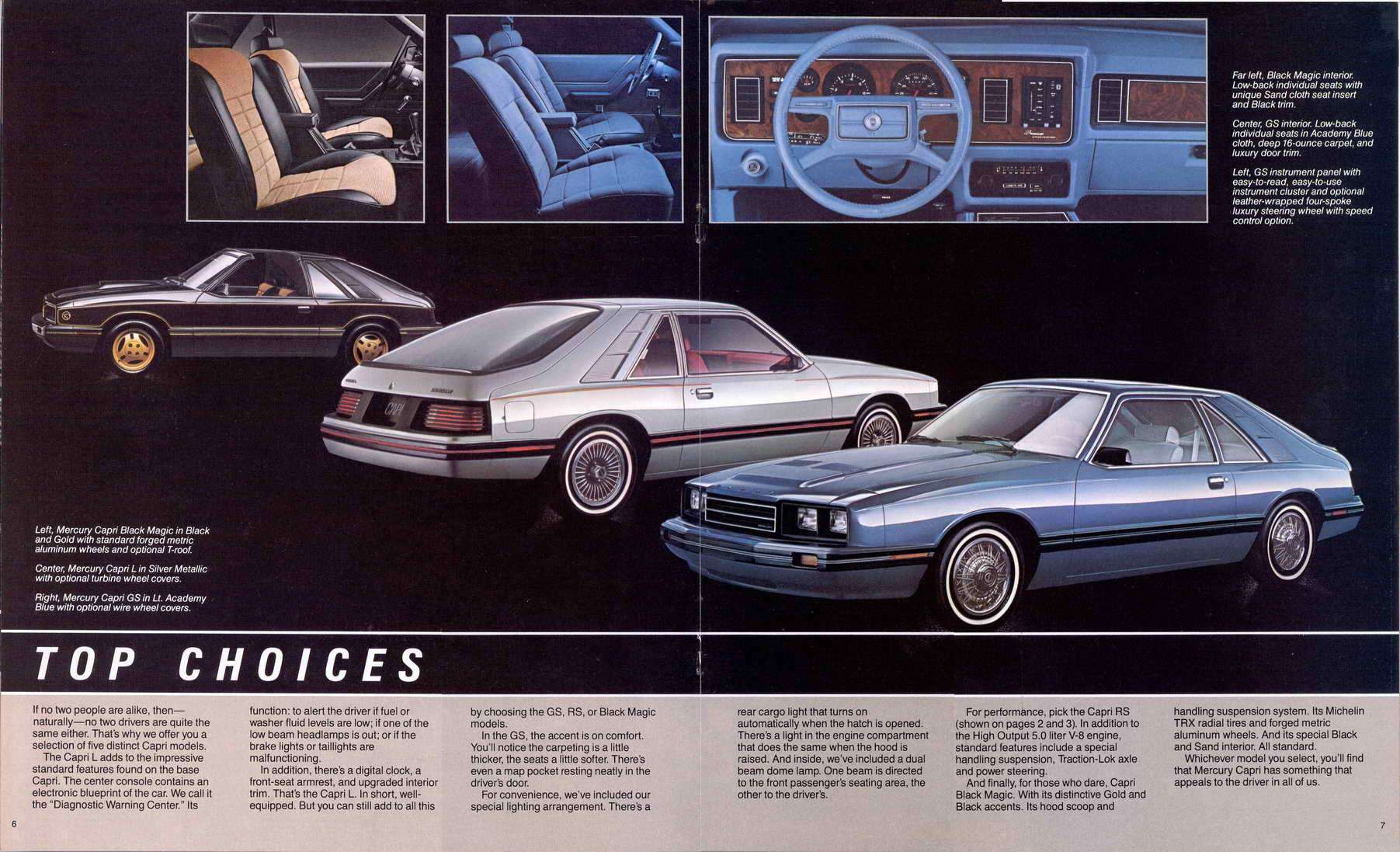 1983 Mercury Capri Information And Photos Momentcar 1980 Ford Interior 10