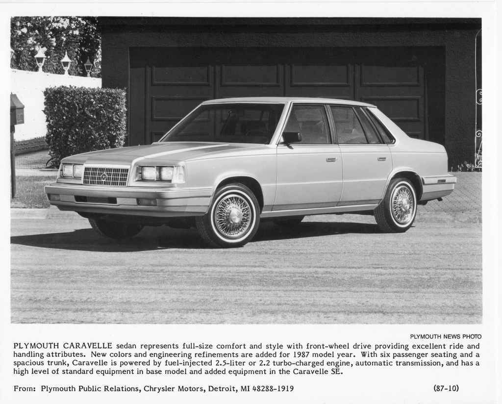 ... Plymouth Caravelle 1987 #10 ...