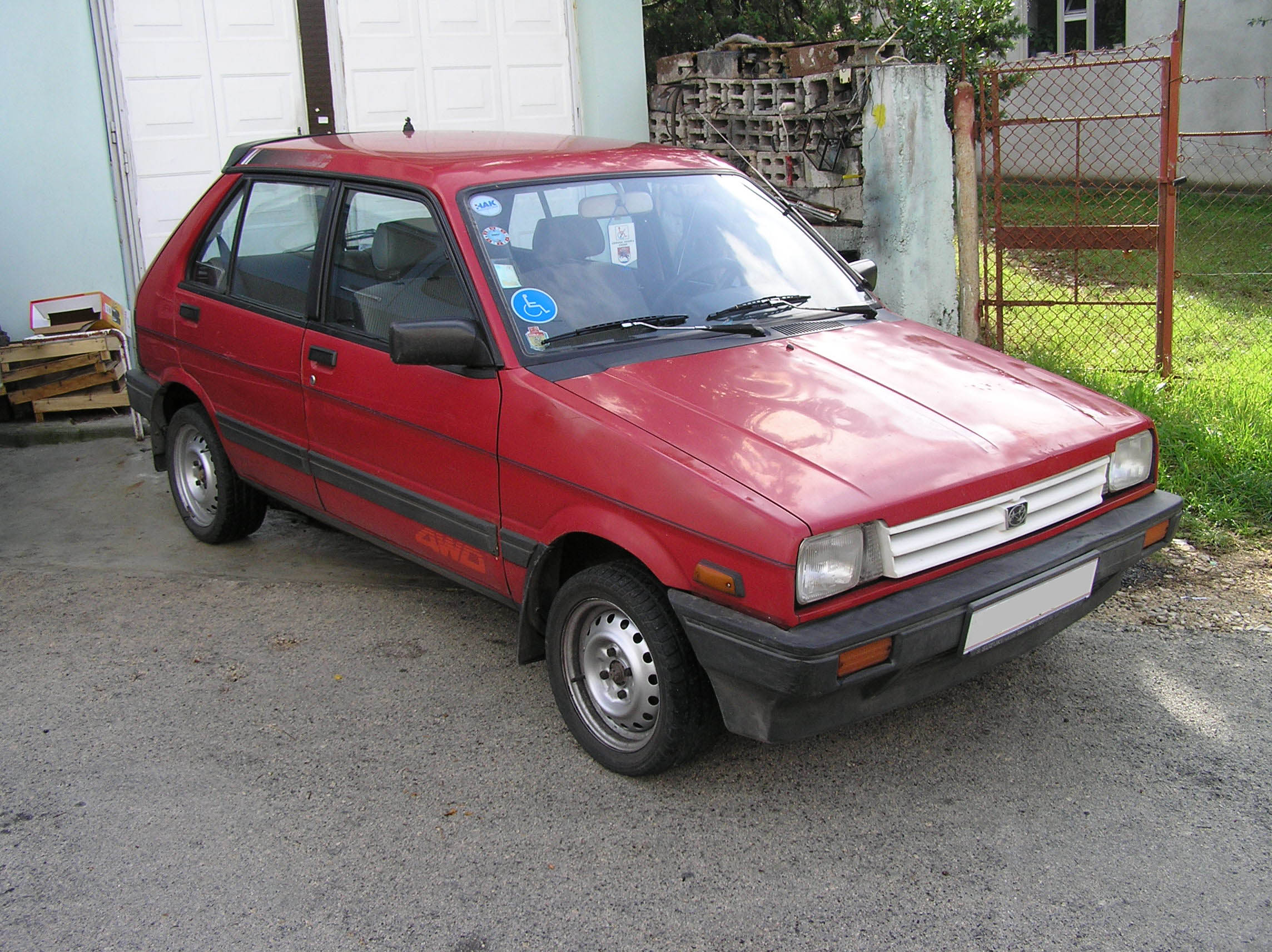Subaru Justy Base #13