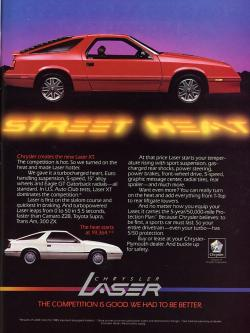 Chrysler Laser 1986 #7
