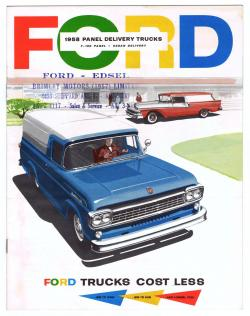 Ford Panel Delivery 1958 #7