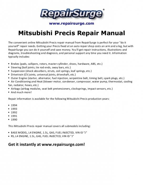 1994 mitsubishi precis information and photos momentcar rh momentcar com Mitsubishi Endeavor Engine Diagram Mitsubishi Montero Sport Engine Diagram