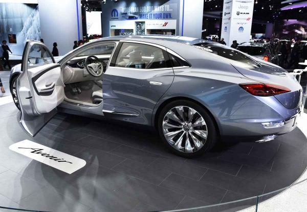 A Buick 2015 Avenir sedan concept demonstrating a new face of the old brand