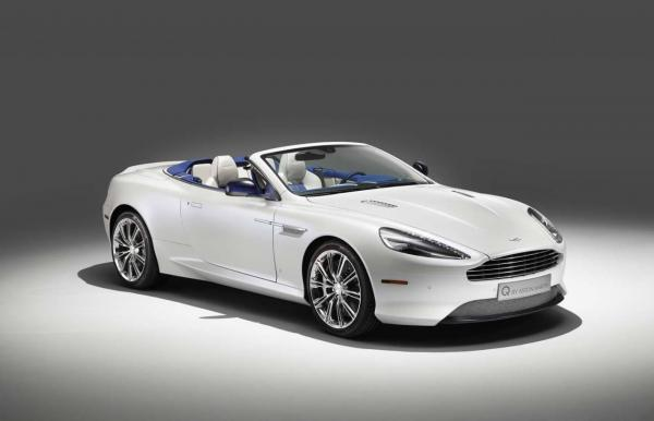 Aston Martin 2014 DB9 Volante painted in Morning Frost