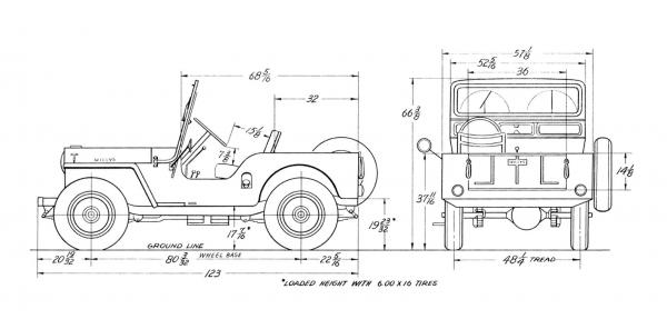 willys cj-3a - information and photos